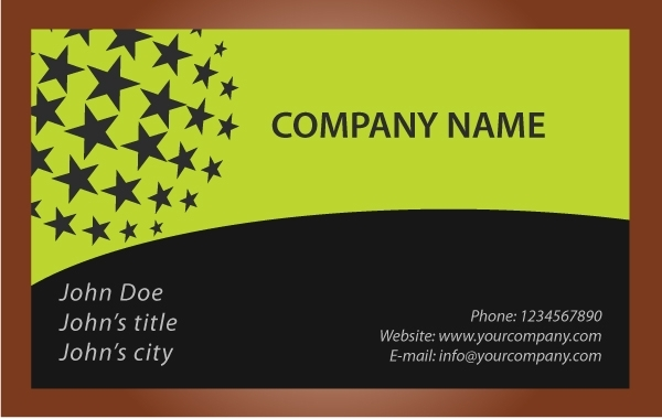 Free Black Star Business Card