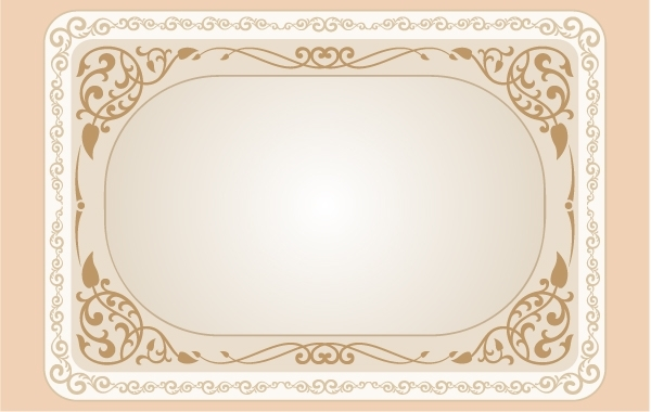 Free Vectors Vintage Curly Floral Frame Template Gianferdinand