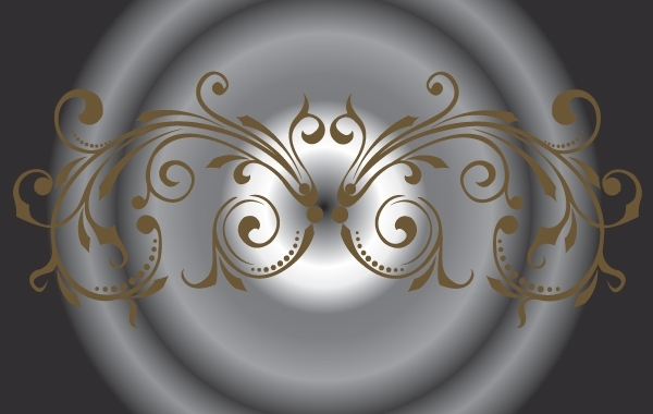 Free Brown Curly Decorative Ornament