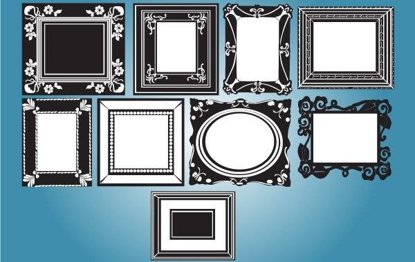 Free Vintage Black & White Frame Pack