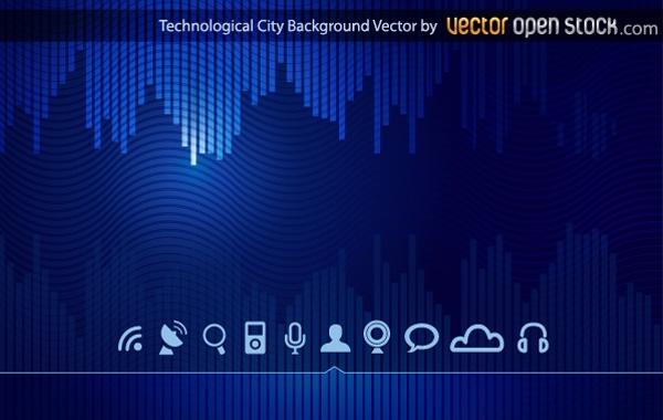 Free Vectors: Technologic skyline city background | Vector Open Stock