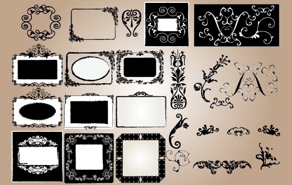 Free Grungy Vintage Frame and Ornament