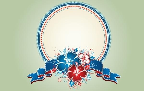 Free Vintage Decorative Floral Badge