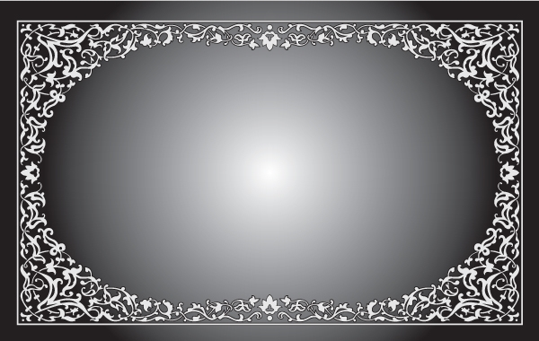 Free Black and White Floral Frame