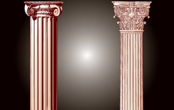 Free Vintage Building Pillar Vector
