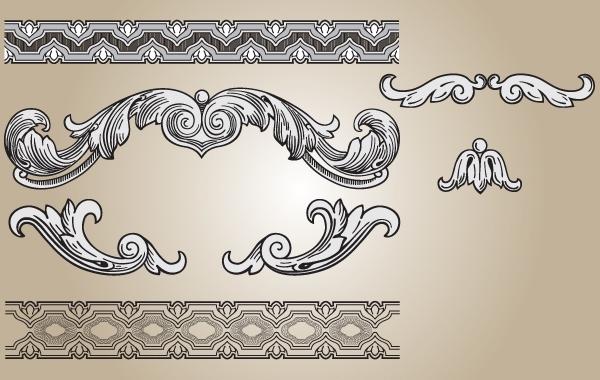 Free Ornament Shape and Seamless Pattern