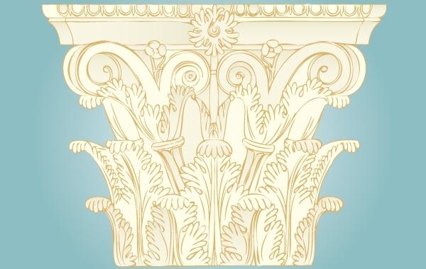 Free Vintage Ornament Pillar Decoration