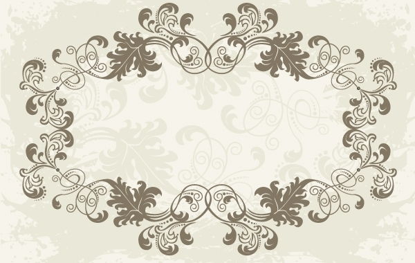 Free Floral Ornamental Rounded Frame