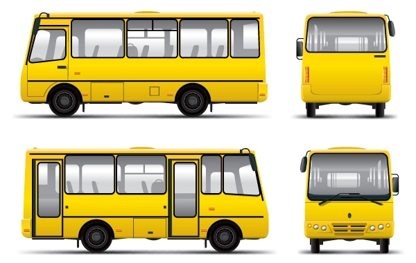 Free Corporate Mini Bus Vector
