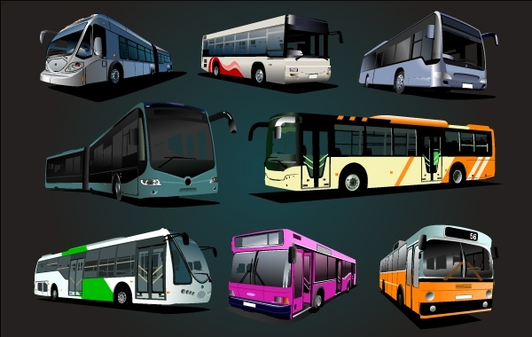 Free High Detail Big Bus Set