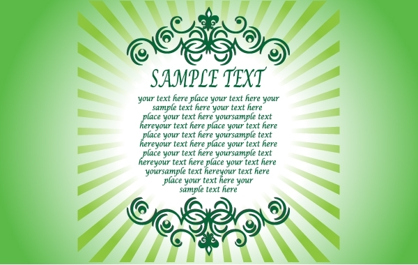 Free Textual Greeting Card Template