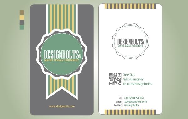 Free Vectors Vintage Business Card Template Design Bolts