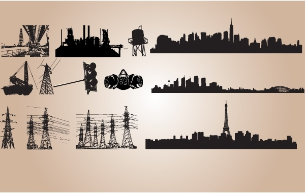 Free Silhouette Industrial Vector