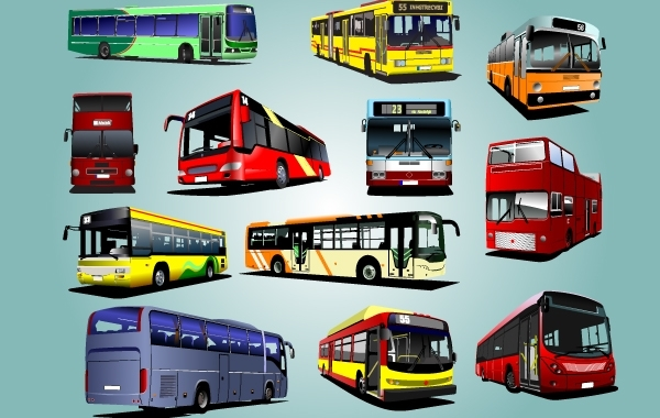 Free Photorealistic Bus Pack Vector