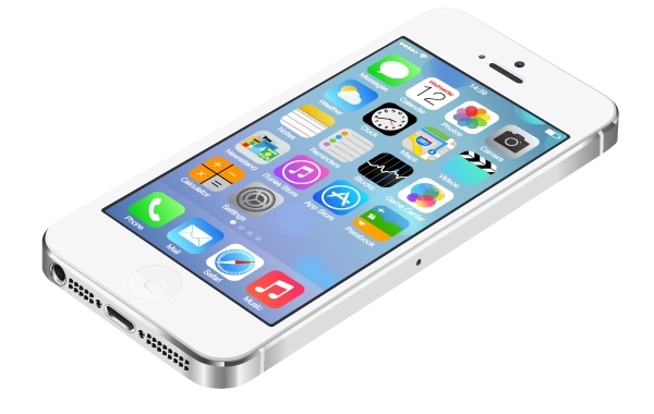 Free Realistic iPhone5 with UI of IOS7