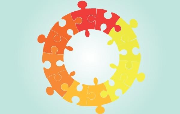 Free Vector Circle Shaped Puzzle