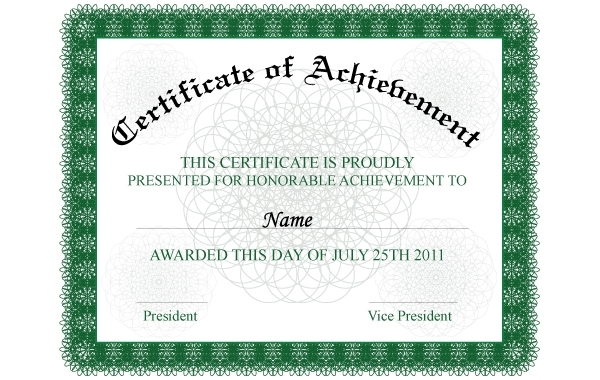 Free Achievement Certificate Template