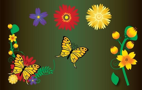 Free Flower Garden Element Vector
