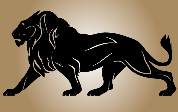 Free Silhouette Lion Vector