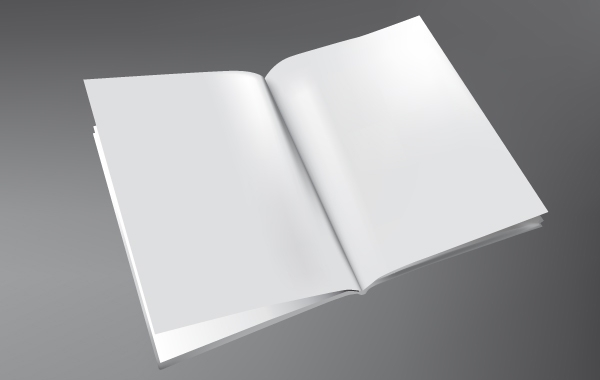 Free 3D Book Template Vector