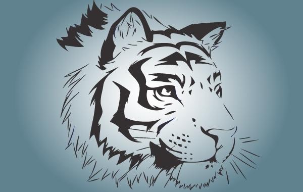 Free Bengal Tiger Face Vector