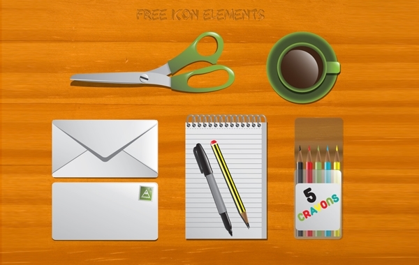 Free Office Stationary Vector