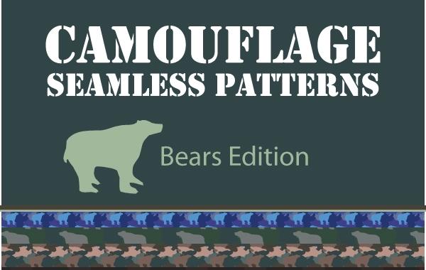 Free Camouflage Seamless Pattern