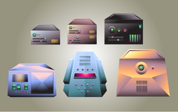 Free Realistic Server Vector Pack