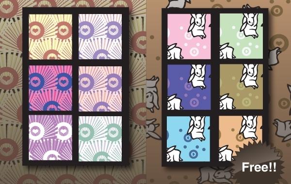 Free Seamless Japanese Swatch Pattern