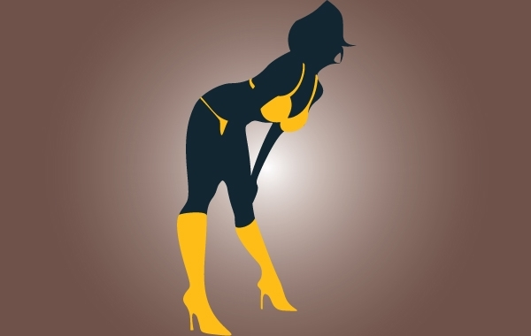 Free Silhouette Hot Strippers Vector