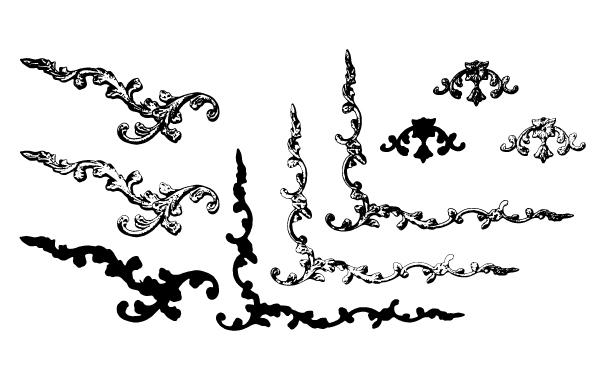 Black and White Ornamental Border