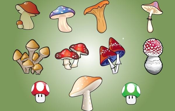 Free Vectors: Vector Mushroom | pixelworlds