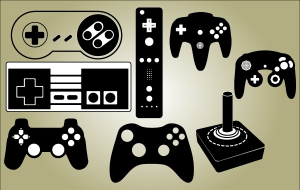 Free Game Controller Set Vector