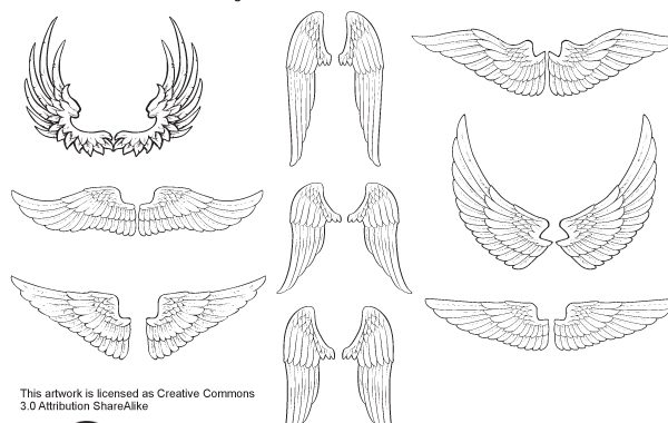 Free Sketchy Wings Pack Vector