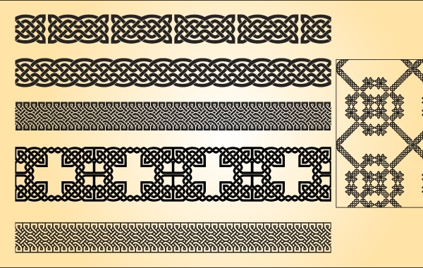 Free Celtic Pattern Brush Vector