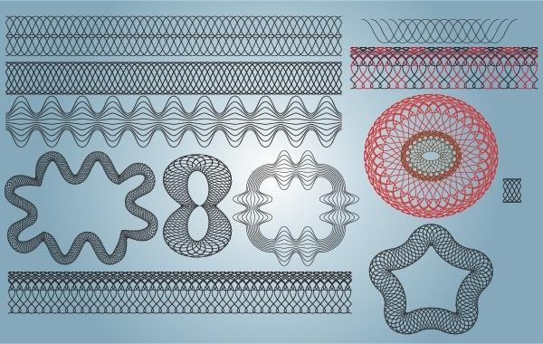Free Guilloche Pattern Vector