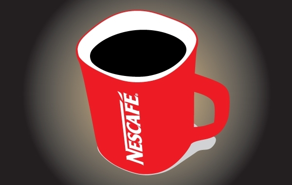 Free Red Nescafe Mug Vector