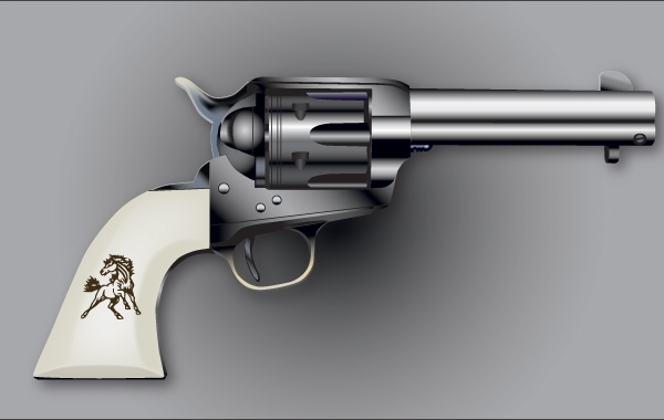 Free Colt Six Shooter Vector