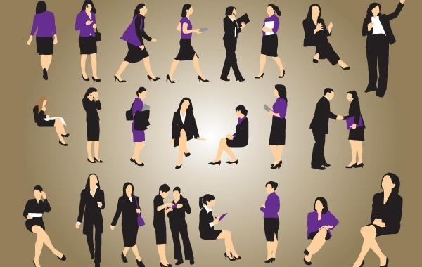 Free Silhouette Vector Businesswomen