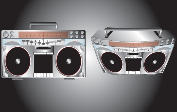 Free High Detail Boombox Vector