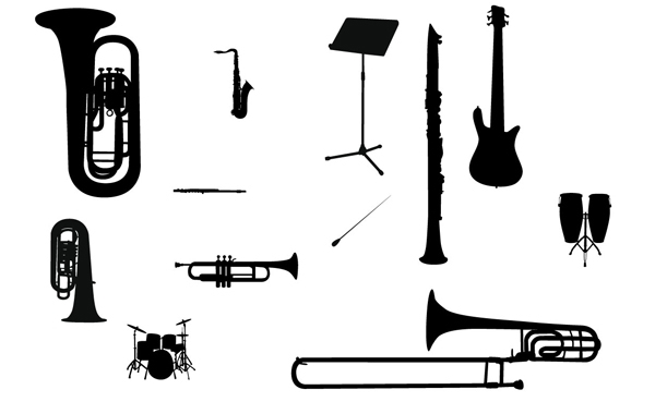 Free Silhouette Vector Music Instrument