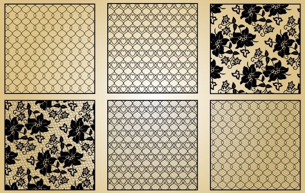 Free Vectors: Lace and Intertwined Pattern | Jerry