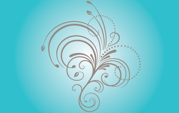 Free Curly Natural Floral Shape