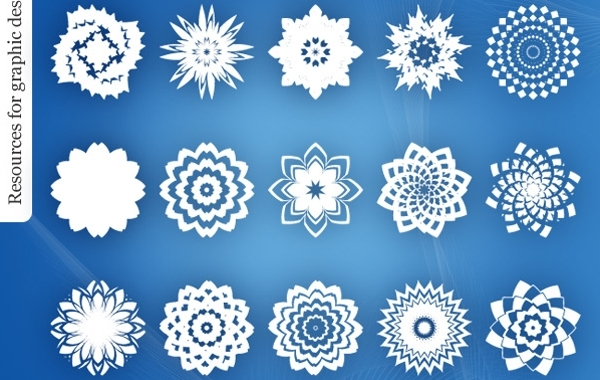 Abstract Decorative Ornament Flower Pack