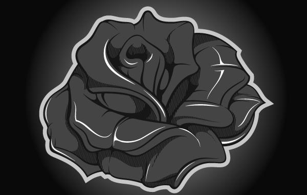 Free Metallic Rose Vector