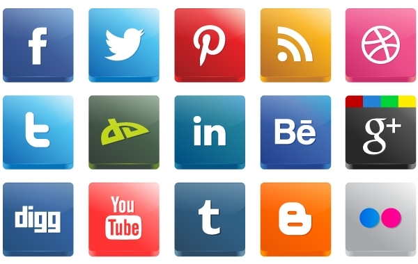 Free 3D High Detail Social Media Icon Pack
