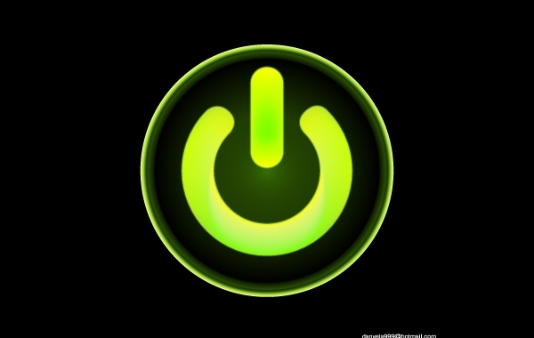 Free Green Computer Power Button