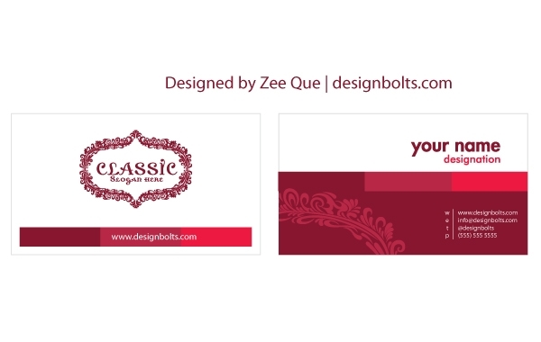 Free Customizable Beautiful Business Card Template