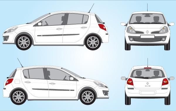 Free Renault Clio Car Vector