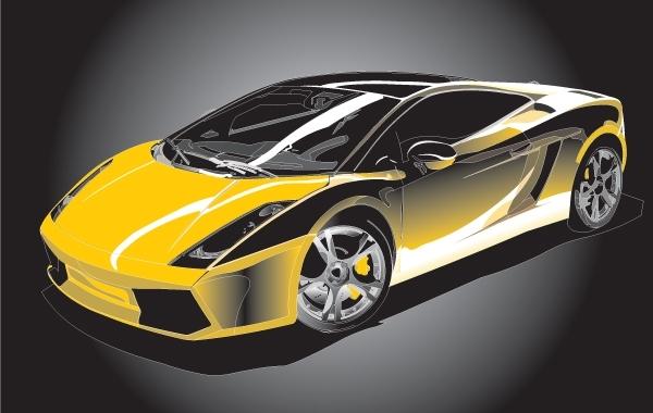 Free Colorful Vector Gallardo Sports Car